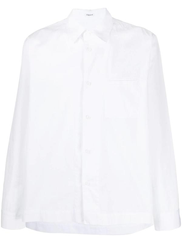 Filippa K Zach Patch-pocket Overshirt In White