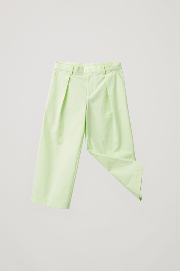 Cos Kids' Wide-leg Trousers With Pleats In Yellow