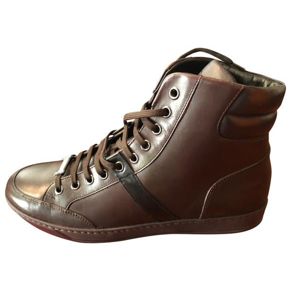 Pre-owned Z Zegna Brown Leather Boots