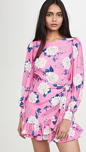 Yumi Kim Daphne Dress In Velvet Morning Hot Pink