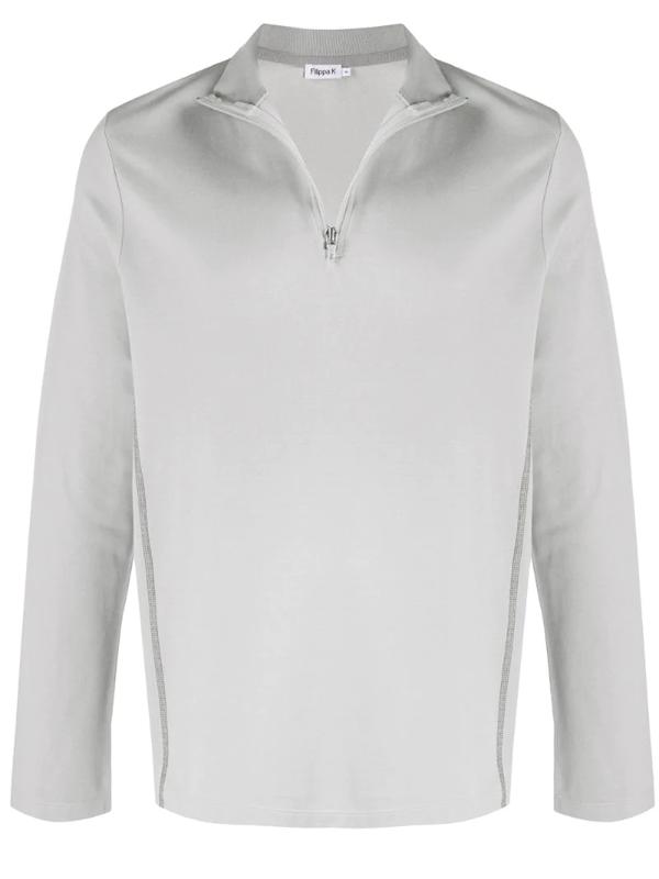 Filippa K Lionel Zipped Sweatshirt In Grey