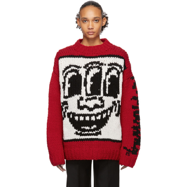 Etudes Studio Etudes Red Keith Haring Edition Andy Sweater
