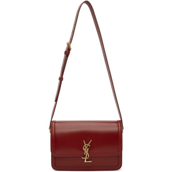 Saint Laurent Solferino Ysl-plaque Leather Shoulder Bag In 6008 Redo