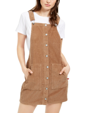 Dickies Cotton Corduroy Overall Dress In Camel