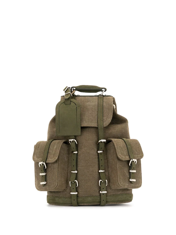 Readymade Military Cargo Backpack In Green
