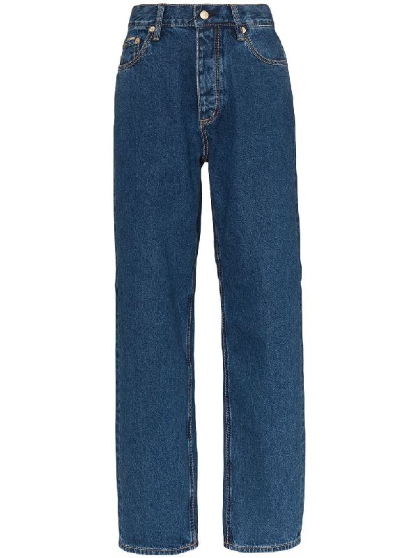 Eytys Benz High-waisted Jeans In Blue