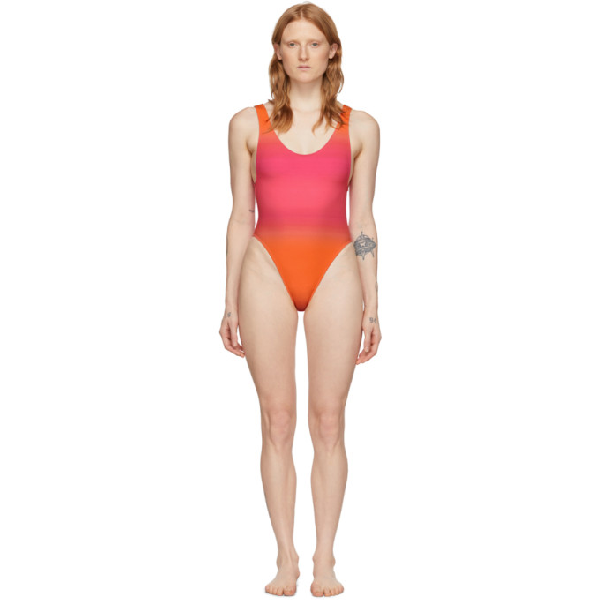 Jacquemus Le Maillot Camerio DÉgradÉ Swimsuit In Faded Pink