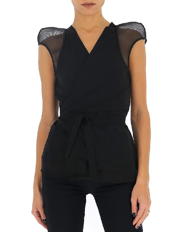 Rick Owens Wrapped V In Black