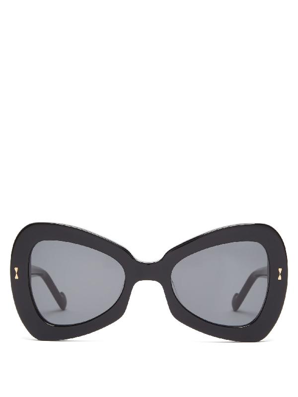 Zimmermann Aurora Butterfly Acetate Sunglasses In Black
