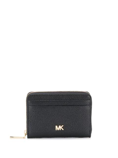 Michael Michael Kors Mott Leather Coin Card Case In Black