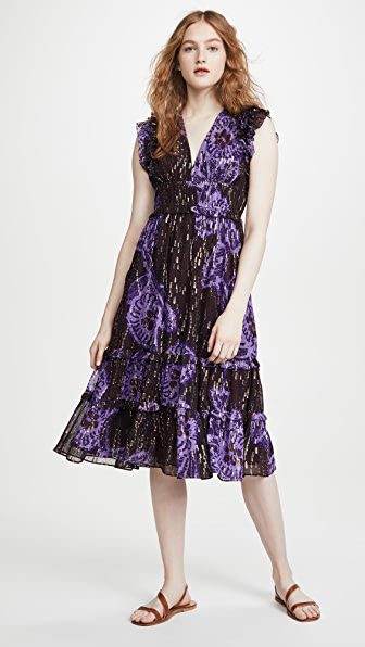 Ulla Johnson Akira Dress In Violet