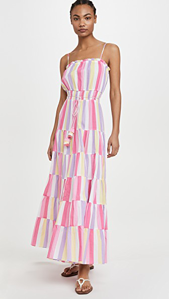 Playa Lucila Patchwork Dress In Multi