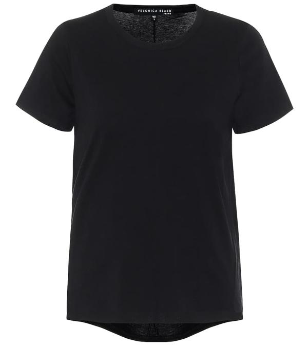 Veronica Beard Lauren Cotton T-shirt In Black