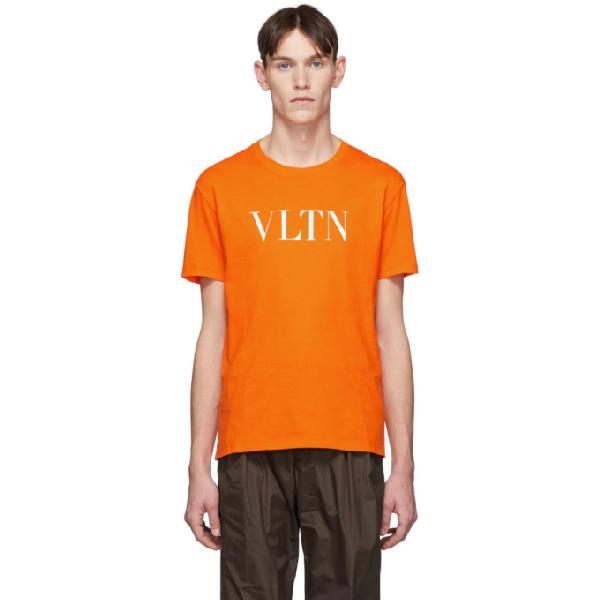 Valentino Orange 'vltn' T-shirt In Ck0 Arancio