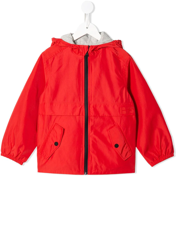Bonpoint Kids' Zipped-up Jacket In Red