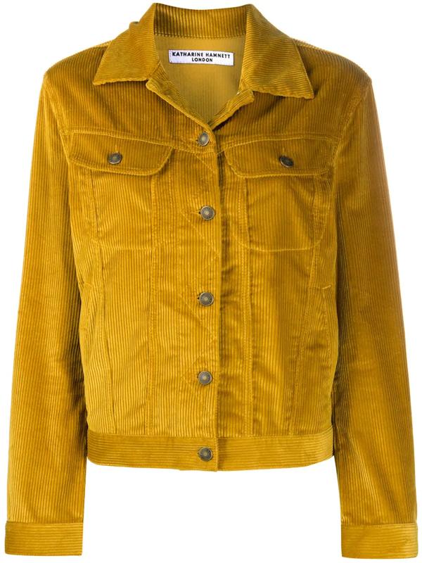 Katharine Hamnett Keith Corduroy-style Jacket In Yellow