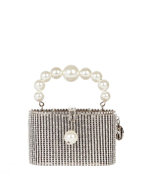 Rosantica Super Holli Mini Crystal-embellished Top Handle Bag In Silver
