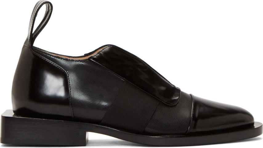 Paco Rabanne Black Leather Extended Sole Shoes