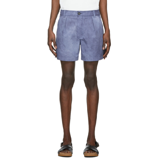 Jacquemus Le Short Tennis Cotton Shorts In Navy