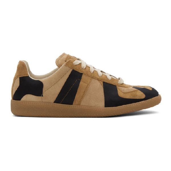 Maison Margiela Replica Laser Two-tone Suede Sneakers In H8061 Stucc