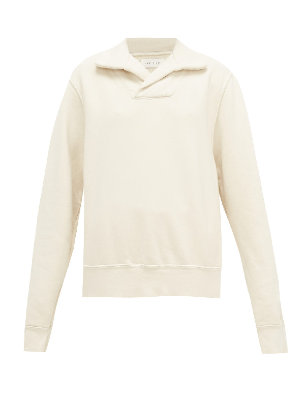 Les Tien Yacht Brushed-back Cotton Sweatshirt In Ivory