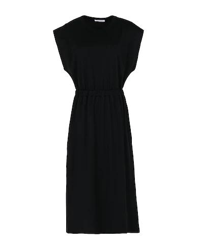 Ninety Percent Elasticated-waist Organic Cotton Midi Dress In Black