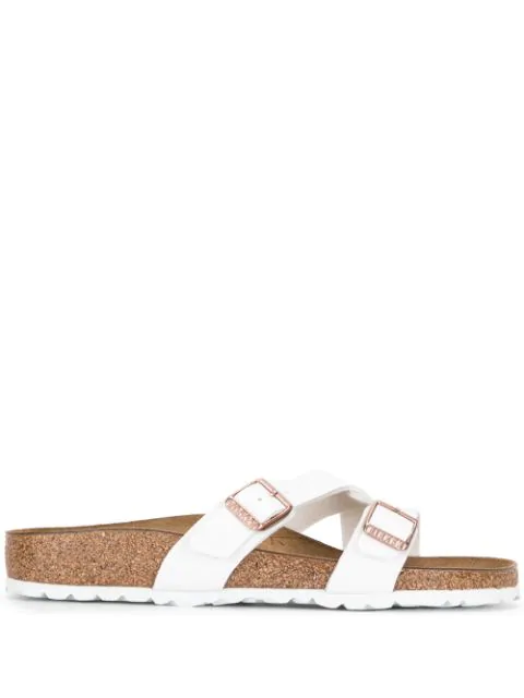 Birkenstock Yao Cross-strap Sandals In New White