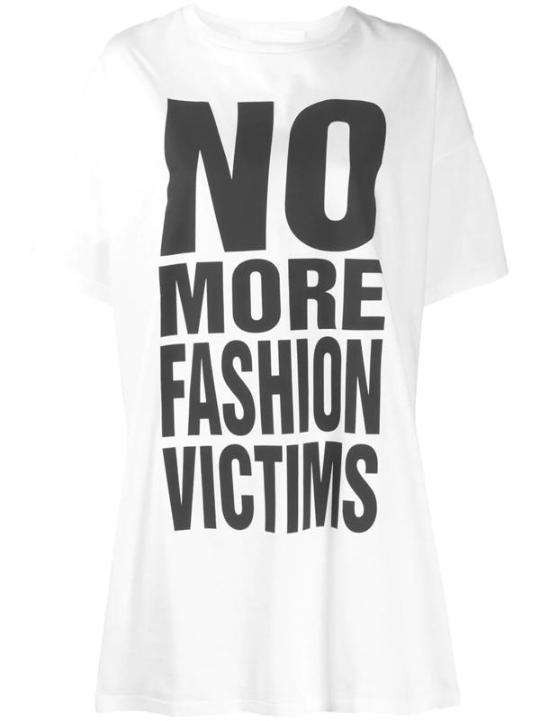 Katharine Hamnett No More Fashion Victims Print T-shirt In White