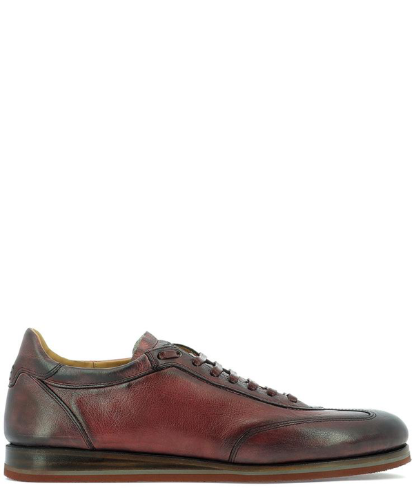 Fabi Leather Lace Up With Logo In Red