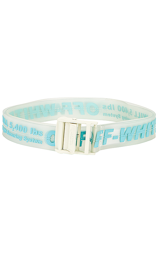 Off-white 35mm Rubber Industrial Belt In Transparent