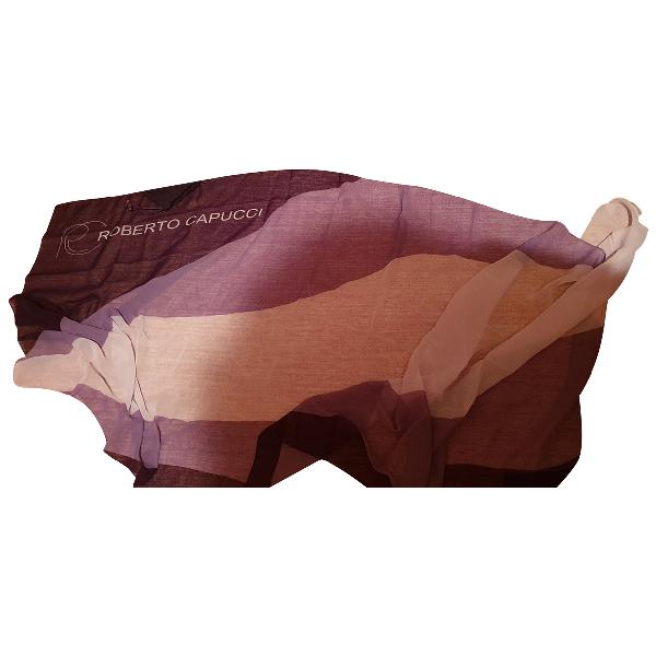 Roberto Capucci Purple Silk Scarf