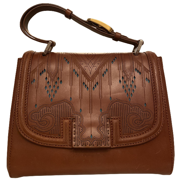 Fendi Silvana Brown Leather Handbag