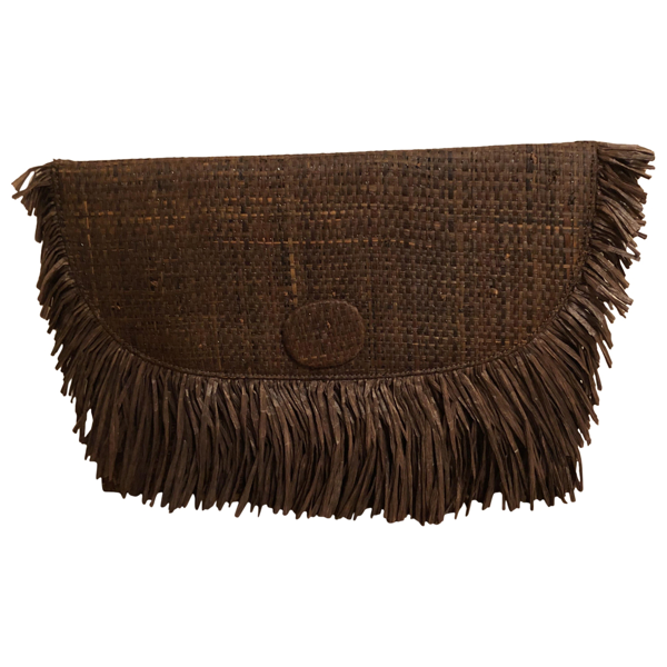 Pre-owned Sanayi313 Brown Wicker Clutch Bag