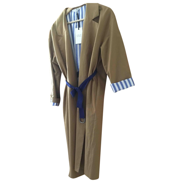 Pre-owned Chloé Stora Camel Cotton Trench Coat