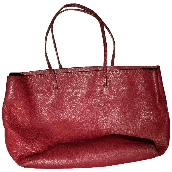 Fendi Roll Bag  Red Leather Handbag