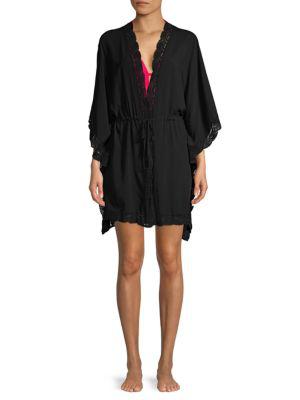 La Blanca Costa Brava Kimono Coverup In Black