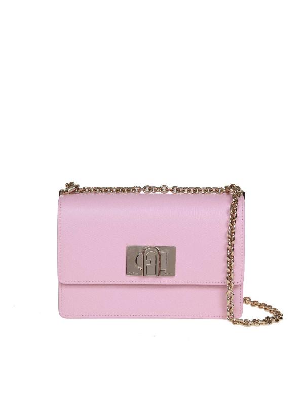 Furla 1927 Mini Leather Crossbody Bag In Pink