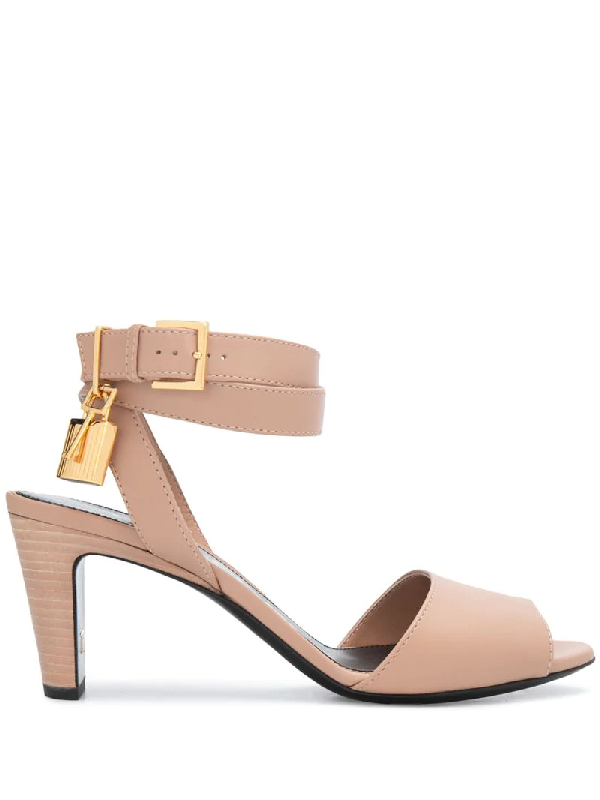 Tom Ford Padlock Detail Sandals In Pink