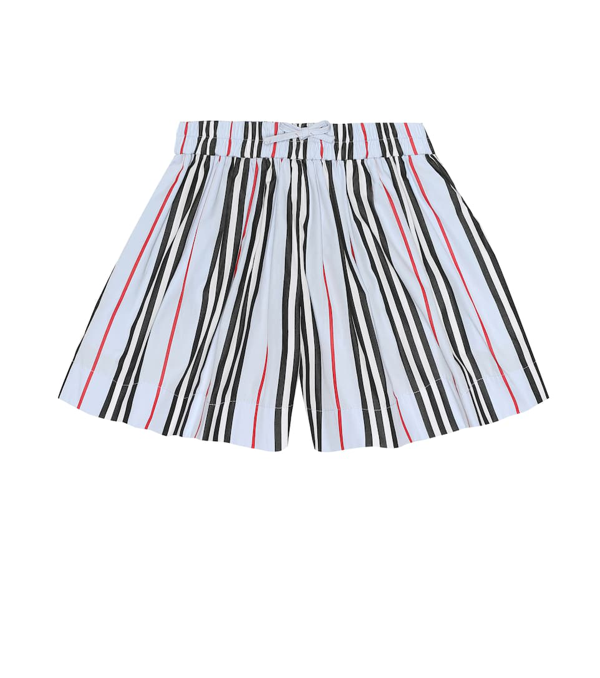 Burberry Kids Cotton Icon Stripe Shorts (3-12 Years) In Blue