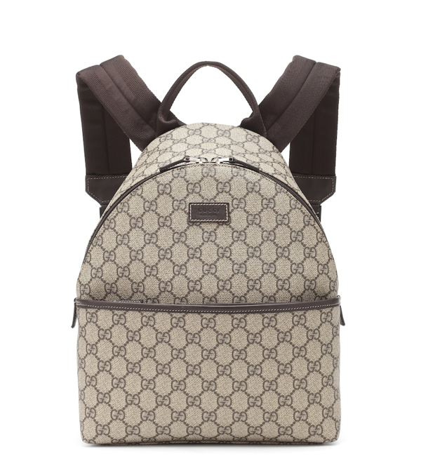 Gucci Kids Gg Supreme Coated Canvas Backpack In Beige