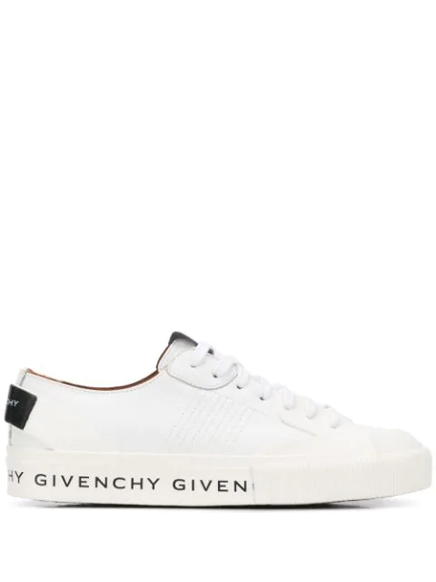 Givenchy Low-top Sneakers Tennis Light Calfskin Logo White