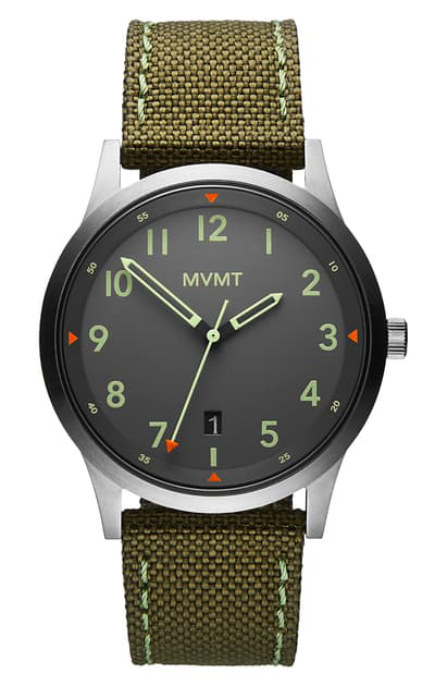 Mvmt Men's Field Olive Nylon Strap Watch 41mm