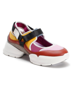 Kate Spade Cloud Chunky Mixed-media Slingback Sneakers In Bloom/golden Curry