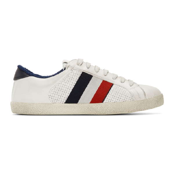 Moncler Men's Shoes Leather Trainers Sneakers Montreal In Weiß