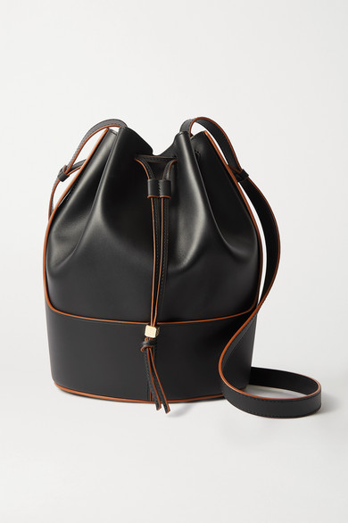Loewe Bag 'balloon Bag' With Brown Stitching Black