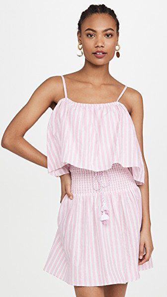 Playa Lucila Stripe Mini Dress In Pink Stripe