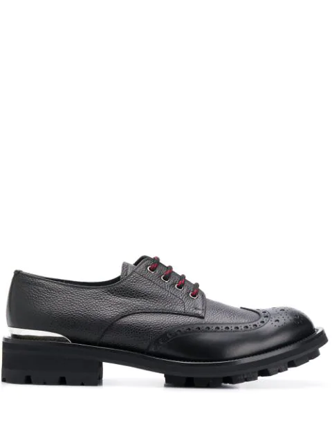 Alexander Mcqueen Chunky Lace-up Brogues In Black