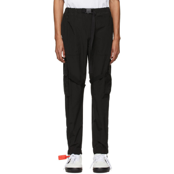 Off-white Straight-leg Cargo Trousers In Black White