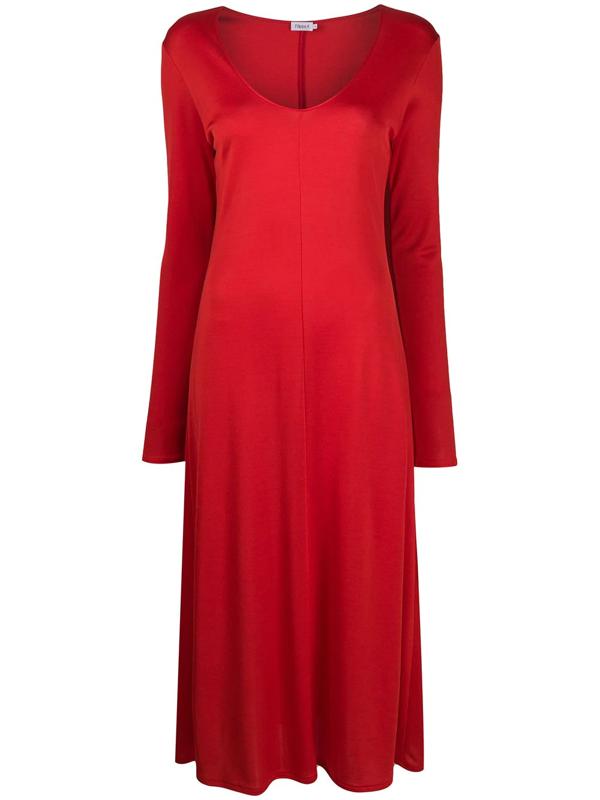 Filippa K Rosaline U-neck Dress In Red