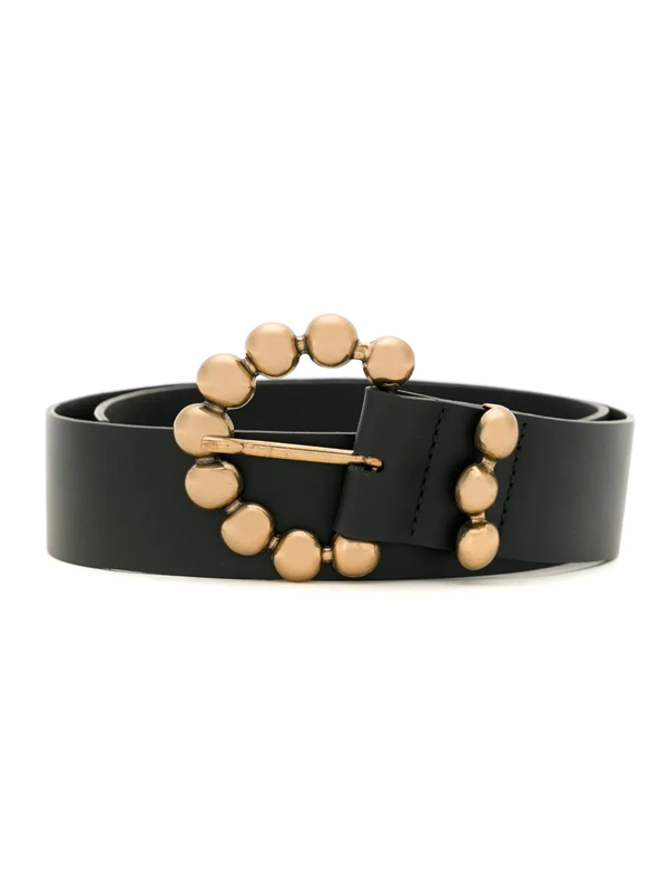 Sarah Chofakian Harlequin Belt In Black